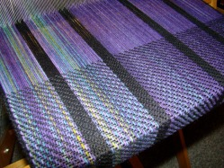 Palindrome warp, being woven